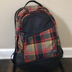 Burton flannel Backpack - Brand New, Never used!